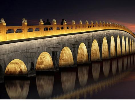 桥梁亮化展示